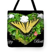 Birthday Greeting Card - Tiger Swallowtail Butterfly Tote Bag