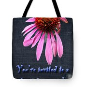 Birthday Party Invitation - Coneflower Tote Bag