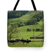 Bishopdale In The Yorkshire Dales National Park Tote Bag by Louise Heusinkveld