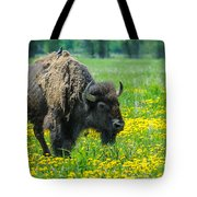 Bison And Friend Tote Bag
