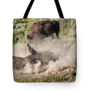Bison Dust Bath Tote Bag