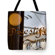 Bistro Sign For Digestives Tote Bag