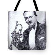 Bix Beiderbecke 1929 Tote Bag by Mel Thompson