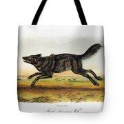 Black American Wolf Tote Bag