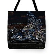 Black And Blue Tote Bag by Eric Dee