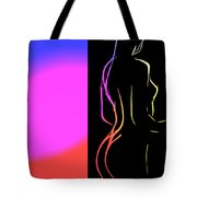 Black And Colors Tote Bag