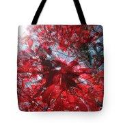 Black And Red Crescendo Tote Bag
