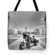 Black And White - Pgr At Houston National Cemetery Tote Bag