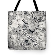 Black And White Abstract II Tote Bag