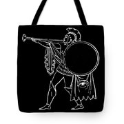 Black And White Ancient Greek Warrior Tote Bag