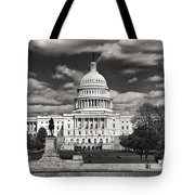 Black And White Capitol Tote Bag