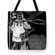 Black And White Chinese Warrior Tote Bag