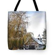 Black And White Church  Melverley Tote Bag