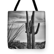 Black And White Couple Tote Bag