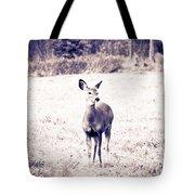 Black And White Deer Tote Bag