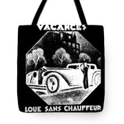 Black And White French Car Tote Bag