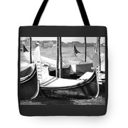 Black And White Gondolas Venice Italy Tote Bag