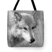 Black And White Grey Tote Bag