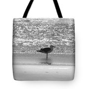 Black And White Gull Tote Bag