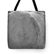 Black And White Hay Ball Tote Bag