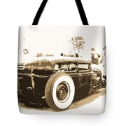 Black And White Hot Rod Tote Bag