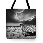 Black And White In Dungeness Tote Bag