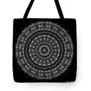 Black And White Mandala No. 3 Tote Bag