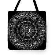 Black And White Mandala No. 4 Tote Bag