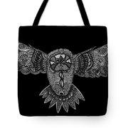 Black And White Owl Tote Bag
