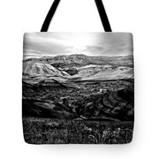 Black And White Painted Hills Tote Bag