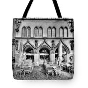 Black And White Patio Tote Bag