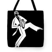 Black And White Saxophone Tote Bag