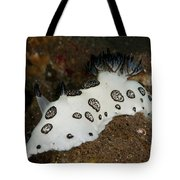 Black And White Spotted Budibranch Tote Bag