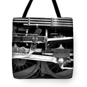 Black And White Steam Engine - Greeting Card Tote Bag