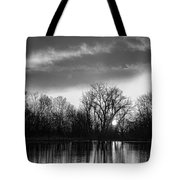 Black And White Sunrise Over Water Tote Bag by James BO  Insogna