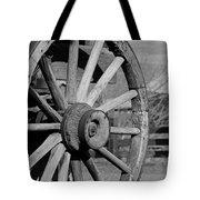 Black And White Wagon Wheel Tote Bag