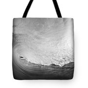 Black And White Wave Breaking On Makena Shore Tote Bag
