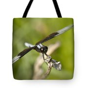 Black And White Widow Skimmer Dragonfly Tote Bag