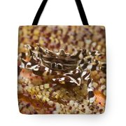Black And White Zebra Crab On Fire Tote Bag