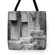 Black And Whtie Corsses Tote Bag