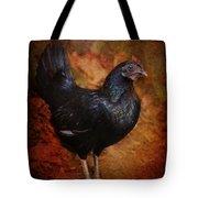 Black Bantam Chicken Tote Bag