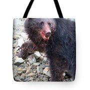 Black Bear Bloodied Lunch Tote Bag
