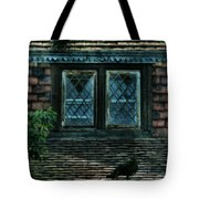 Black Birds Sitting On Roof By Window Tote Bag