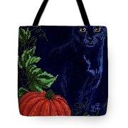 Black Cat Cross Stitch Tote Bag
