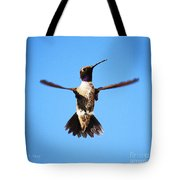 Black-chinned Hummingbird Flying Tote Bag