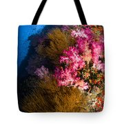 Black Coral And Soft Coral Seascape Tote Bag