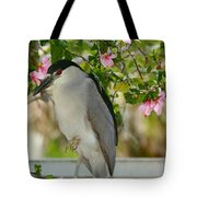 Black Crown In The Flowers Tote Bag