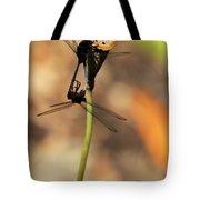 Black Dragonfly Love Tote Bag