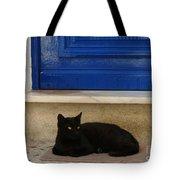 Black Greek Cat Tote Bag