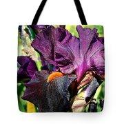 Black Iris Tote Bag